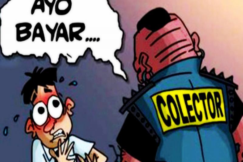 Karikatur Debt Collector (Ist)