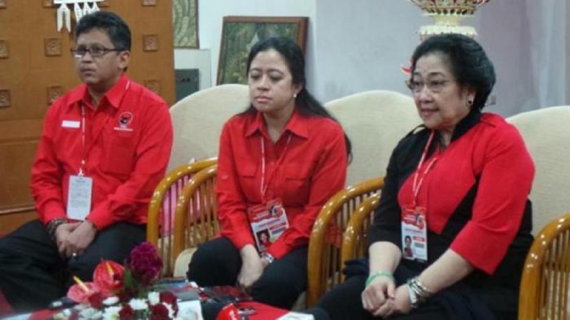 Hasto Kristiyanto, Puan Maharani dan Megawati. (Tribun)