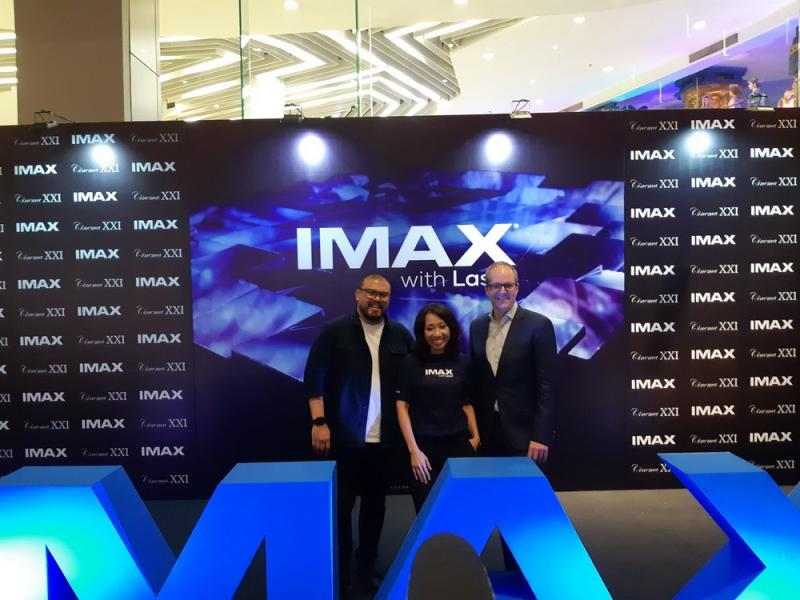 Jumpa pers IMAX with Laser (Foto: Medcom/Abas)