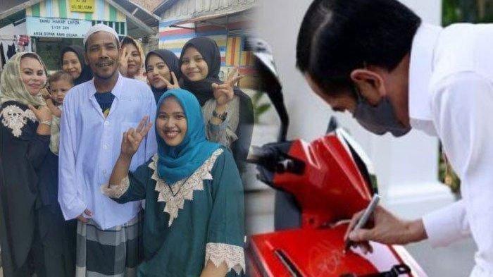 M Nuh, eks pemenang lelang motor Jokowi bersama warga di Jambi (Tribunnews)