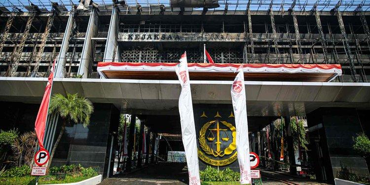 Gedung Kejagung Pasca-Kebakaran (Merdeka.com)