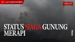 Semburkan Awan Panas Gunung Merapi Berstatus Siaga