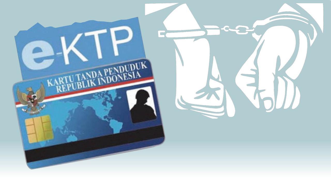 Ilustrasi korupsi e-KTP. (Foto: Palopos/Fajar.co)